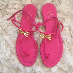 Kate Spade bubble gum pink bow shoes size 10M NWOT